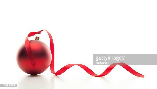 Christmas Ball & Red Ribbon