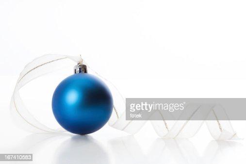 Christmas ball with ribbon : Bildbanksbilder
