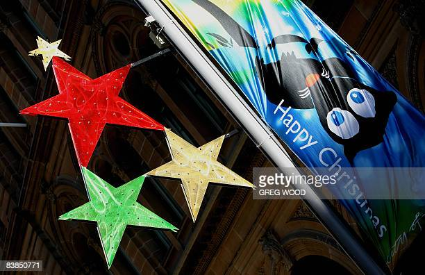 A Christmas banner and stars are displayed in central Sydney on November 27 2008 As well as the iconic Christmas tree which was introduced 72 years...