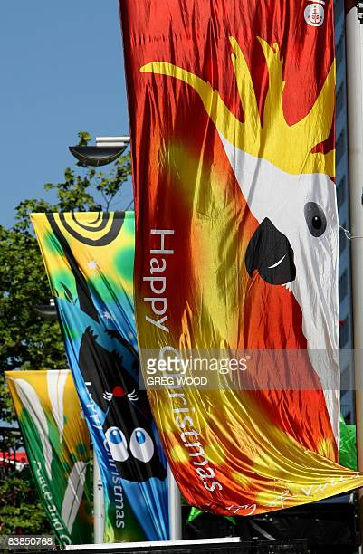 Christmas banners are displayed in central Sydney on November 27 2008 As well as the iconic Christmas tree which was introduced 72 years ago this...