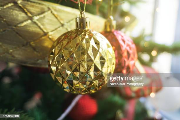 Christmas Bauble Hanging on a Tree
