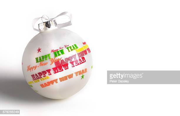 Christmas bauble with copy space