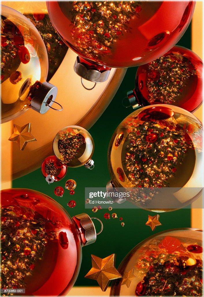 Christmas baubles (Digital Composite) : Stock Photo