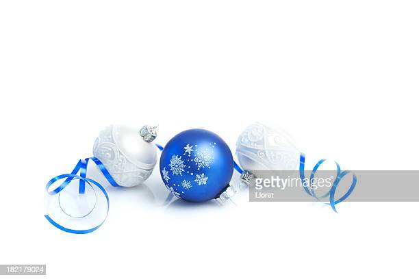 Christmas Baubles with ribbon