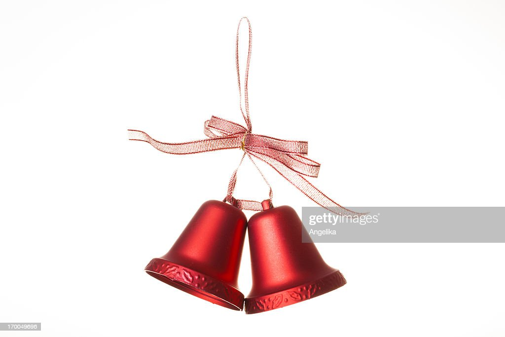 Christmas bells, isolated on white