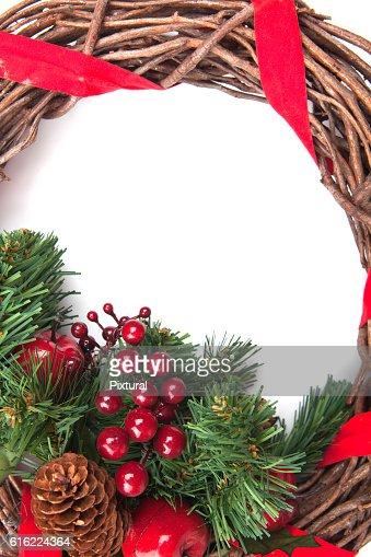 Christmas Border isolated on white : Stock Photo
