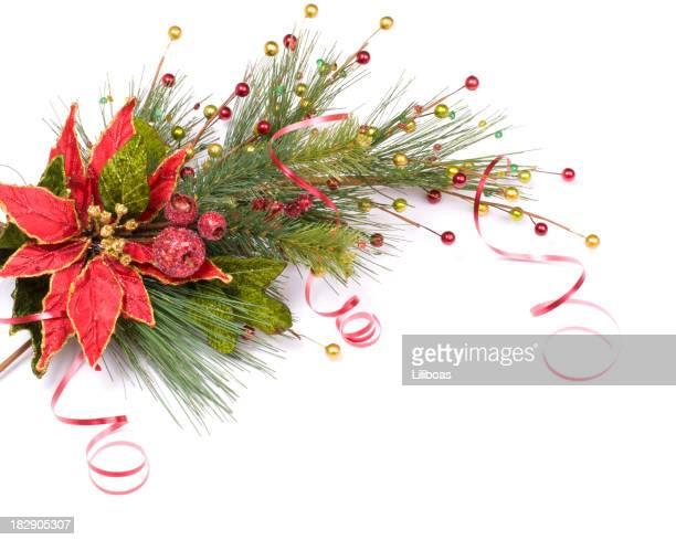 Frontière de Noël composition de pin