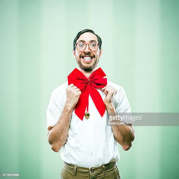 Christmas Bow Tie Uncool