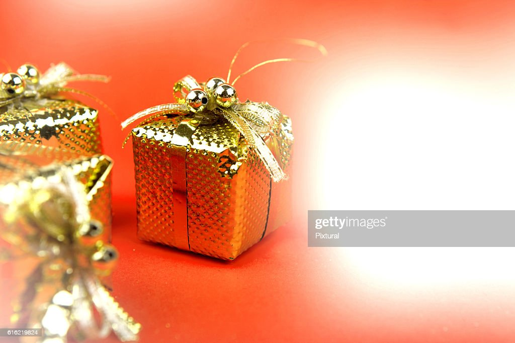 Christmas  box  with copy space : Stock Photo