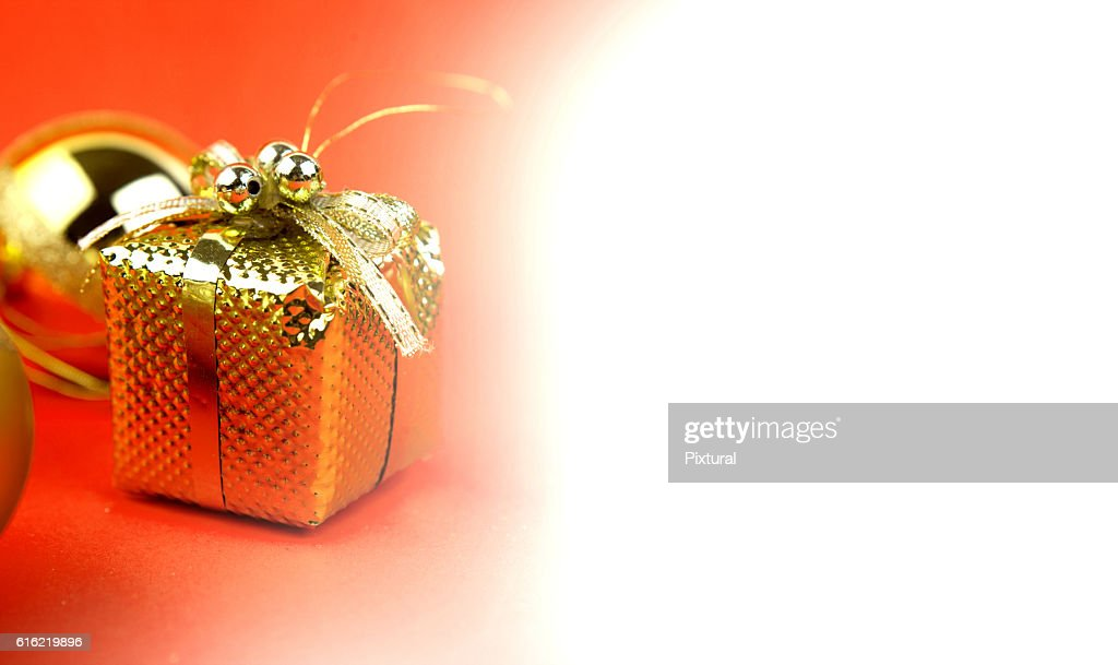 Christmas  box  with copy space : Stockfoto