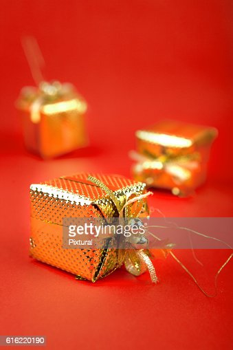 Christmas  box  with copy space : Foto stock