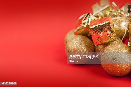 Christmas  box  with copy space : Stock-Foto