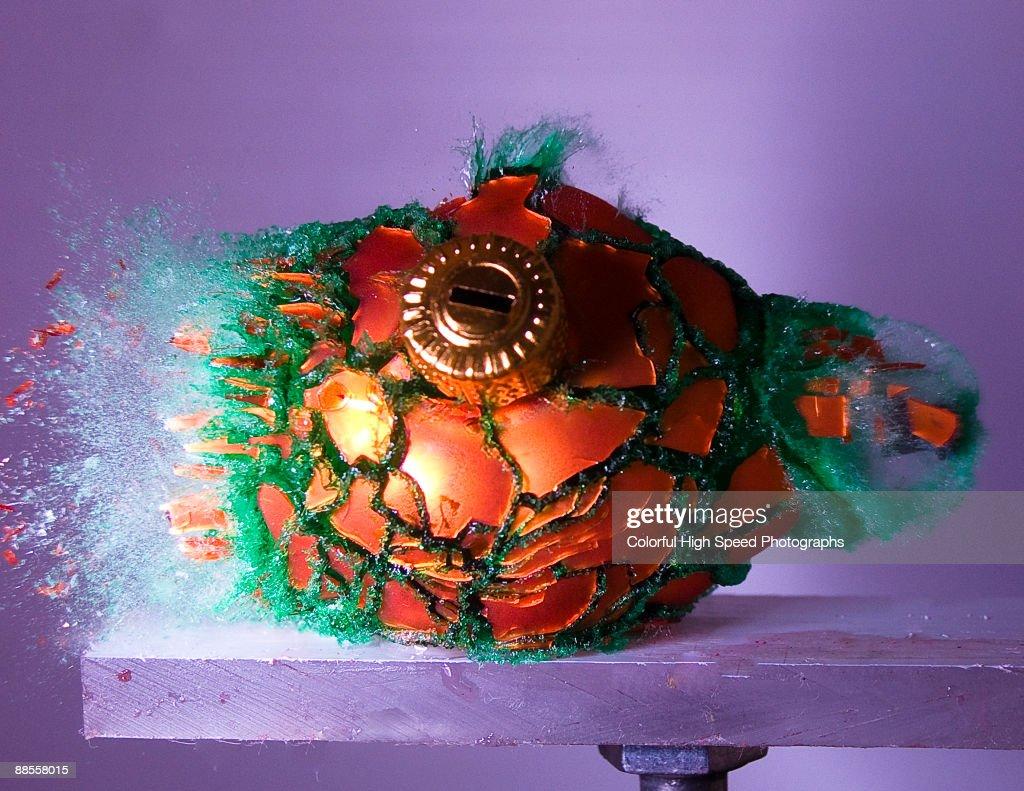 Christmas Bulb and Green Dye : Stock Photo