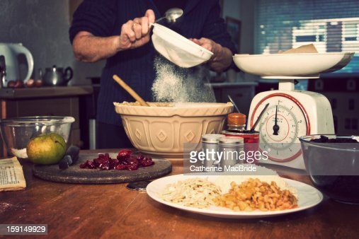 Christmas Cake Making... : Foto stock
