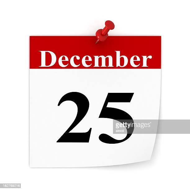 クリスマスのカレンダー