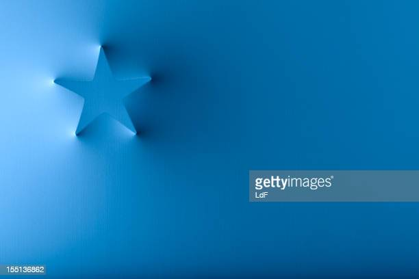 Christmas card with popping out star