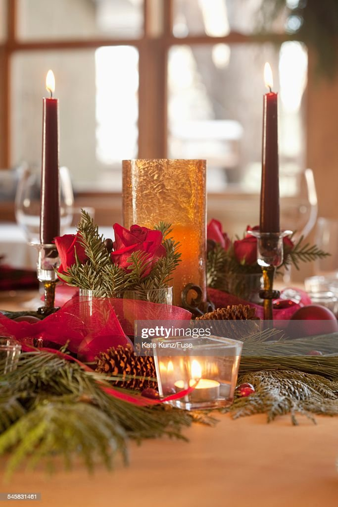 Christmas centerpiece : Stock Photo