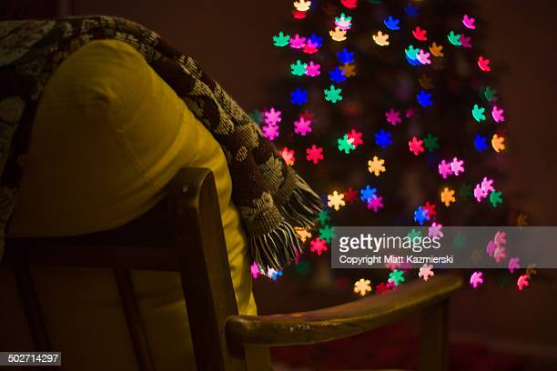 Christmas Chair Light Snowflakes