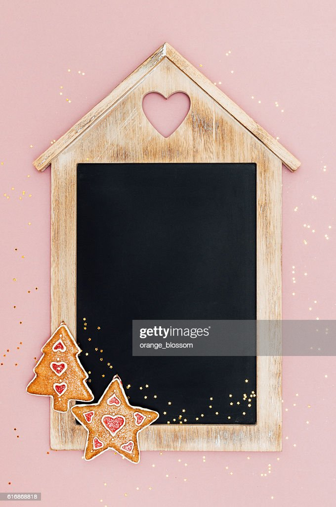 Christmas chalkboard with space for text : Stock Photo