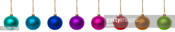 Farbenfrohe set christmas bauble