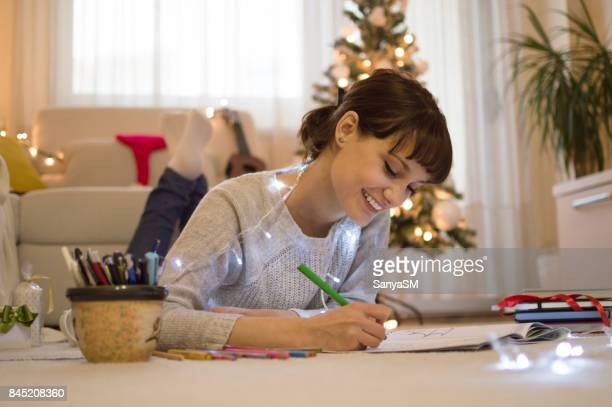 Christmas coloring time