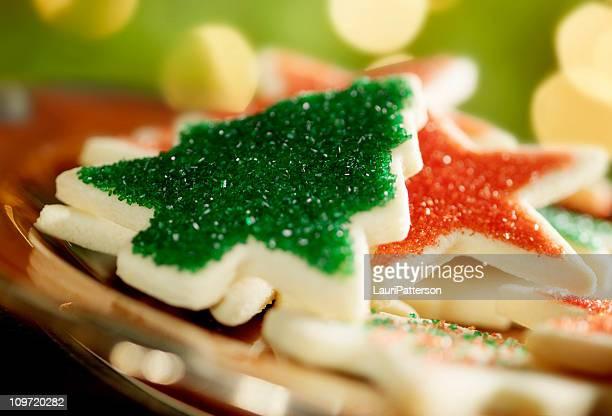 Cookies pela árvore de Natal de
