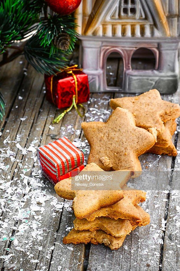 Christmas cookies homemade : Stock Photo