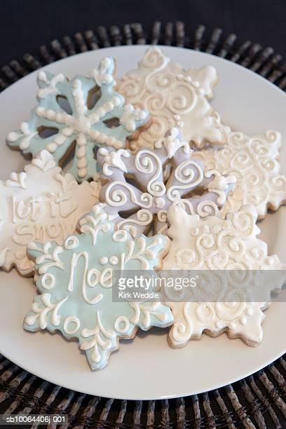 Christmas cookies in shape of snow flake