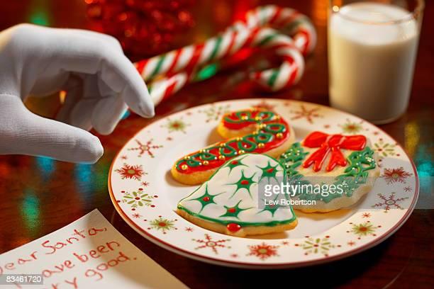 Christmas Cookies with Santa hand
