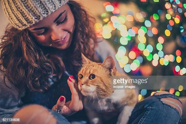 Christmas cuddle