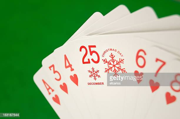 Christmas day poker card