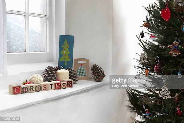 Christmas decoration in window