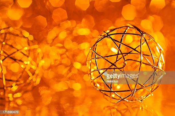 Christmas decoration on a blurred lights background