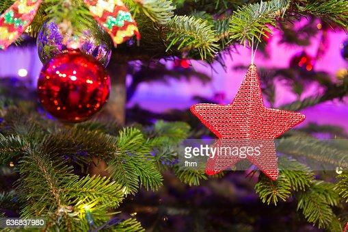 Christmas decoration on a christmas tree