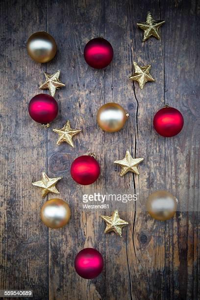 Christmas decoration on dark wood