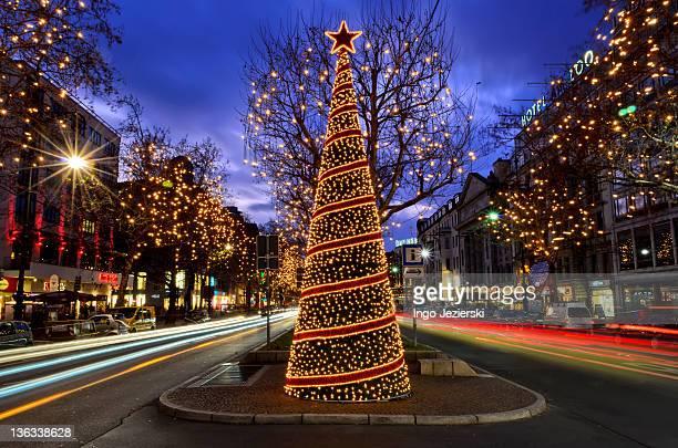 Christmas decoration on main boulevard