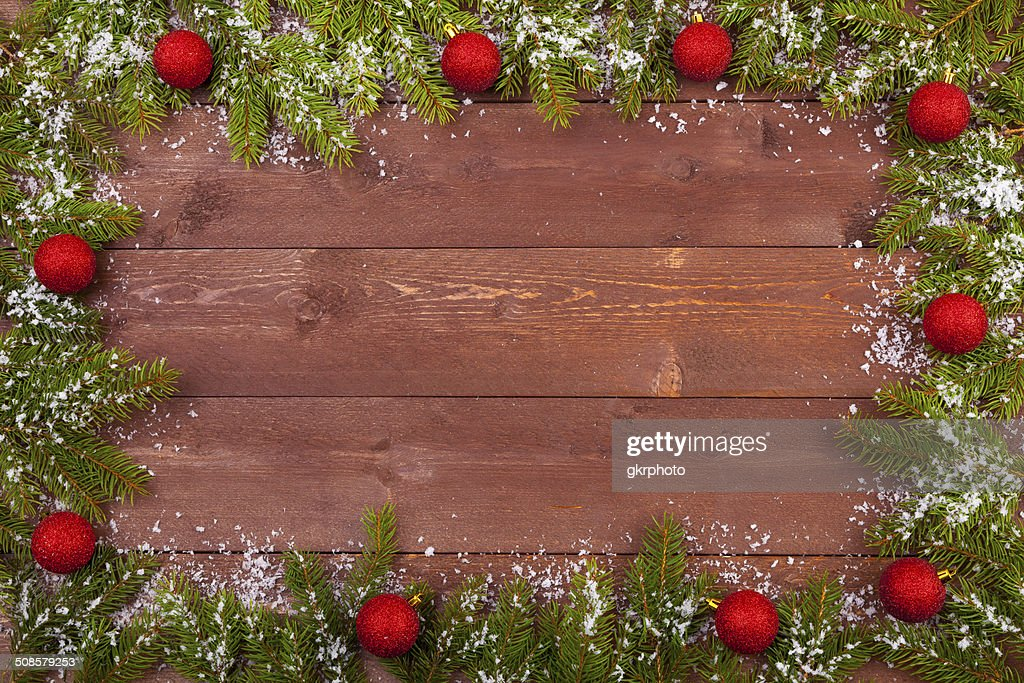 Christmas decoration on the wooden white background : Stockfoto