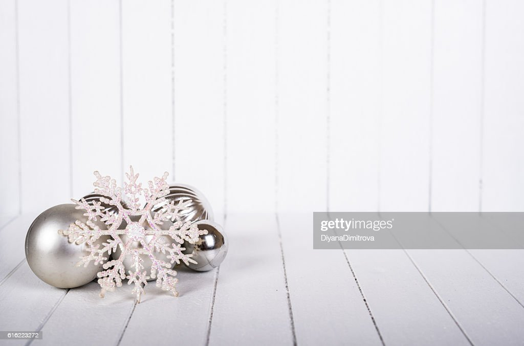 Christmas decoration over white background - selective focus, copy space : Bildbanksbilder