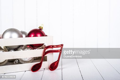 Christmas decoration over white background - selective focus, copy space : Photo