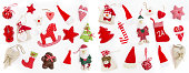 Christmas decoration on white background. Winter Holidays
