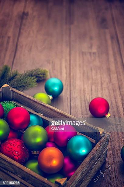 Christmas Decoration with Colourful Ornaments