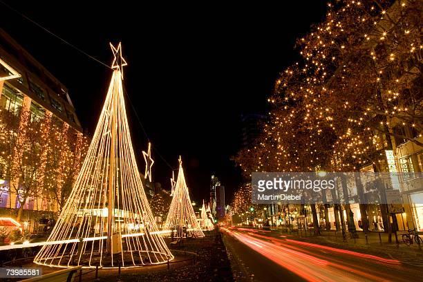 Christmas decorations along Kurfurstendamm, Berlin, Germany