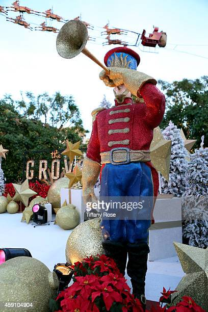 Christmas decorations are seen at The Grove's 12th Annual Christmas Tree Lighting Spectacular Presented By Citi at The Grove on November 16 2014 in...