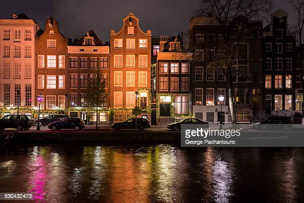 Christmas decorations in Amsterdam