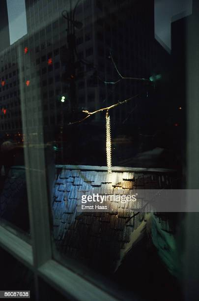 Christmas decorations in New York City December 1971