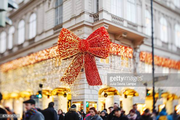 Christmas decorations in Vienna.