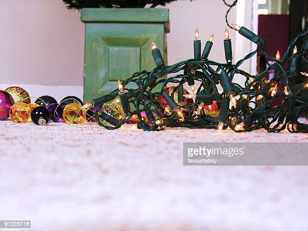 Christmas decorations on floor