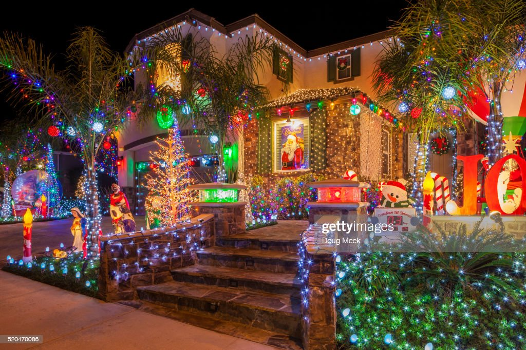 Christmas Decorations on home in Saugus, California