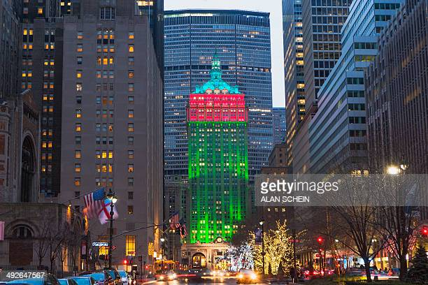 Christmas decorations on Manhattan, New York City, New York State, USA