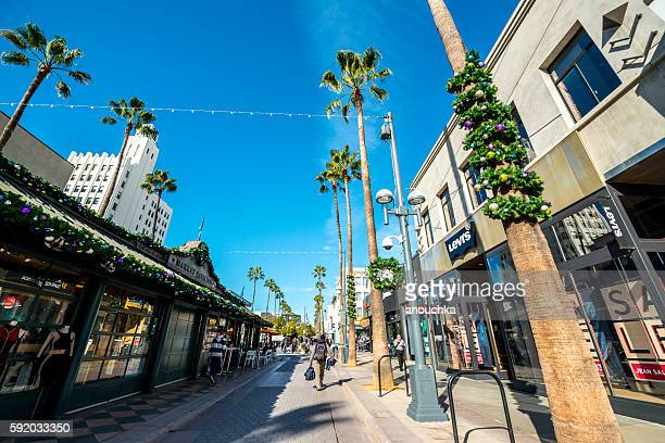 Christmas decorations on Santa Monica streets, USA